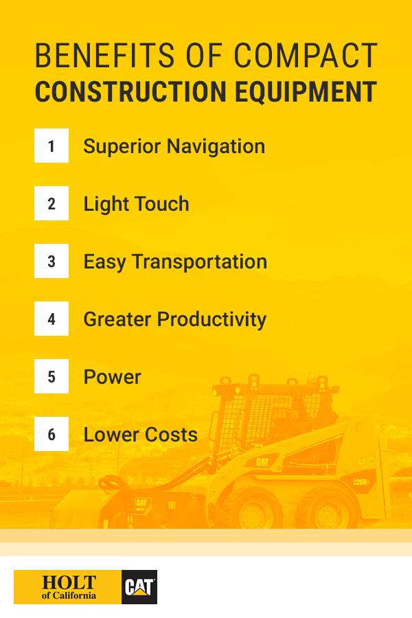Benefits of Compact Construction Equipment