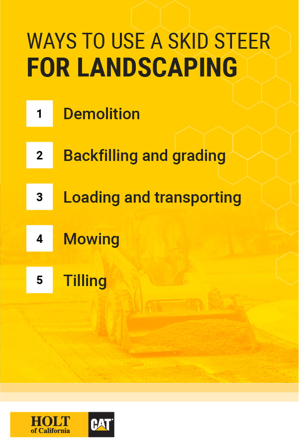 Ways to Use a Skid Steer for Landscaping