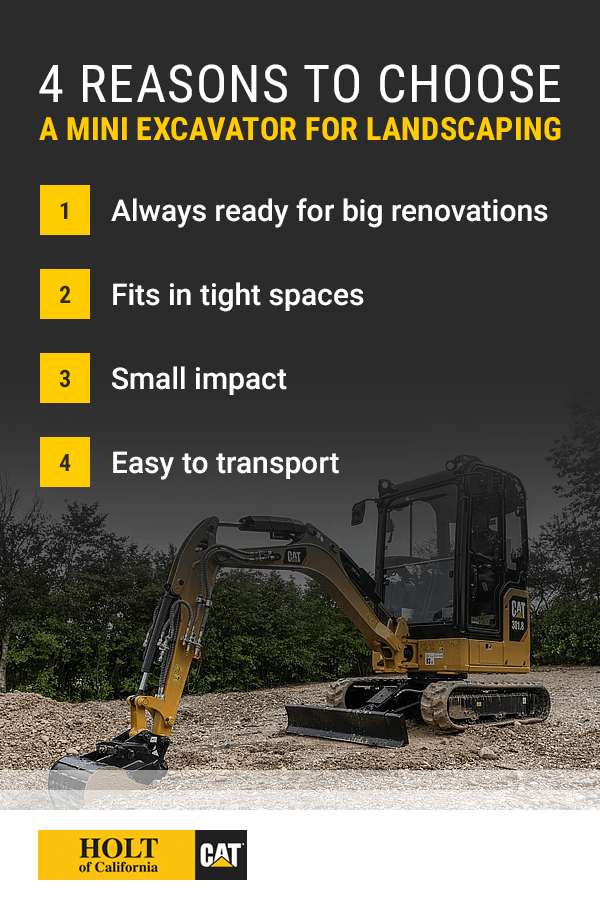 4 Reasons to Choose a Mini Excavator For Landscaping