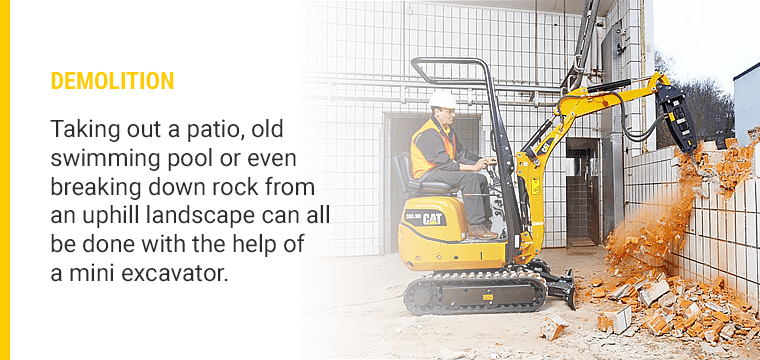 5 Ways To Landscaping Uses for a Mini Excavator